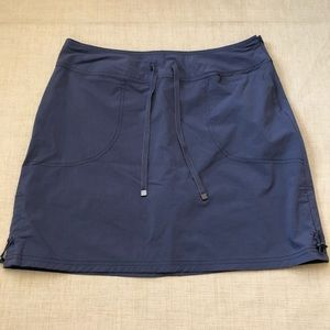 GreenTea Gray Stretch Woven Side Zip Skort